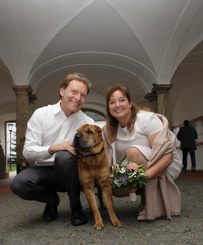 Standesamtliche Hochzeit in Weyarn mit Paar Shooting